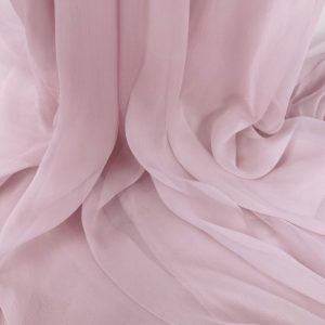 Voal creponat roz prafuit Muselina din matase naturala