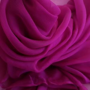 Voal creponat burgundy Muselina din matase naturala
