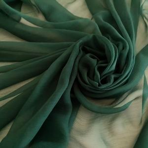 Voal creponat verde tuborg Muselina din matase naturala