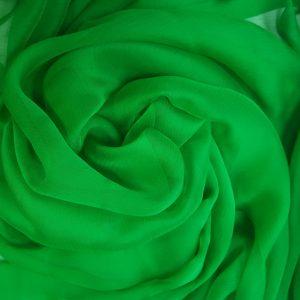 Voal creponat Muselina verde din matase naturala