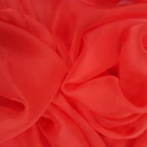 Voal creponat rosu pal Muselina din matase naturala