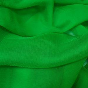 Verde -- Voal creponat (Muselina) din matase naturala-1214