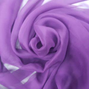 Ultra Violet -- Voal creponat (Muselina) din matase naturala-1222