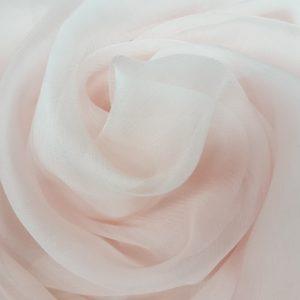 Voal creponat roz Muselina din matase naturala