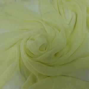 Galben lamai -- Voal Georgette din matase naturala-1104