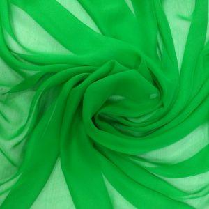 voal georgette verde crud matase naturala