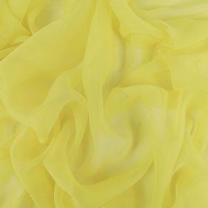 Voal creponat Yellow Iris Muselina din matase naturala