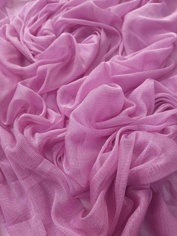 Tul roz din matase naturala