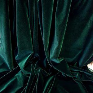 Catifea verde pin ( cu tenta de petrol)-4785