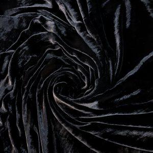 Catifea neagra din matase naturala-4756