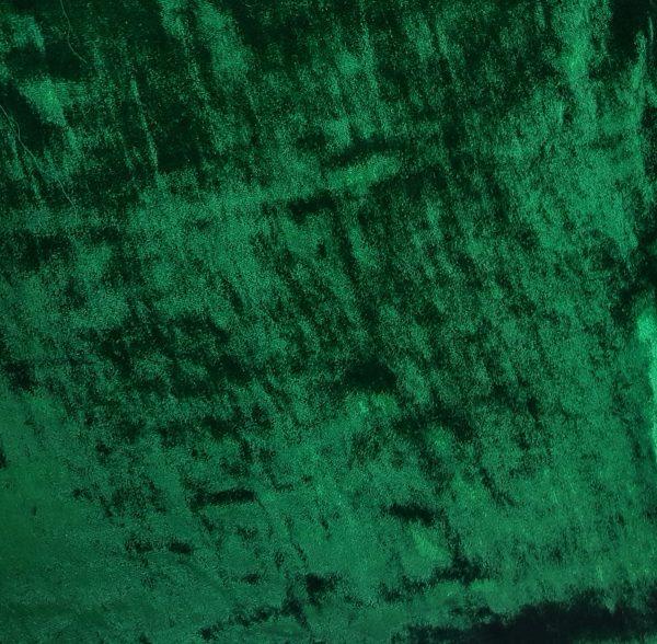 Catifea verde-smarald, matase naturala 100%