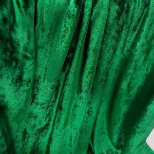 Catifea verde-smarlald din matase naturala-4794