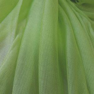 Tul verde fistic din matase naturala