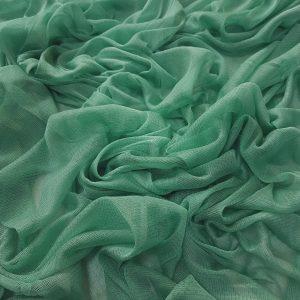 Tul verde opalin din matase naturala
