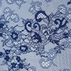 Dantela tip Chantilly bleumarin