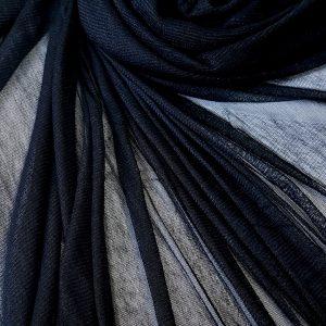 Tul negru din matase