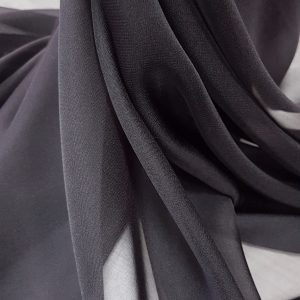 Negru -- Voal chiffon-6362