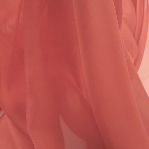 Rosu-caramiziu -- Voal chiffon-6252