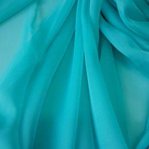 Turquoise -- Voal chiffon-6239