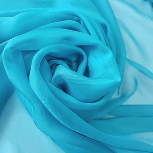 Turquoise-intens -- Voal chiffon-6267