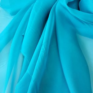 Turquoise-intens -- Voal chiffon-6263