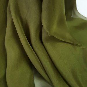 Verde avocado Voal chiffon
