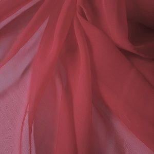 Rosu-trandafiriu -- Voal creponat (Muselina) din matase naturala -8470