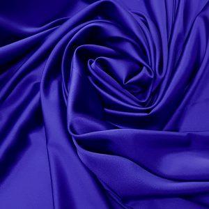 Albastru-royal -- Matase naturala uni-6755