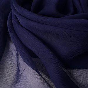 Bleumarin -- Voal creponat (Muselina) din matase naturala -8461