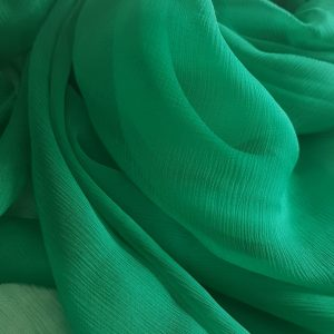 Verde -- Voal creponat (Muselina) din matase naturala -8479