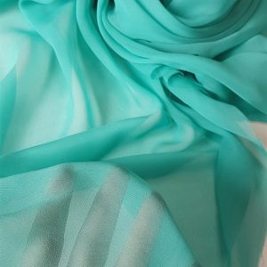 Turquoise-deschis -- Voal Georgette din matase naturala-8451