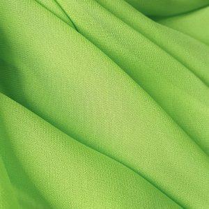 voal georgette verde fistic matase naturala