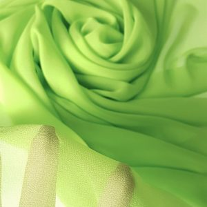 Verde-fistic -- Voal Georgette din matase naturala-8444