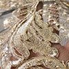 Broderie accesorizata cu paiete si fir auriu-9190