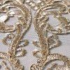 Broderie accesorizata cu paiete si fir auriu-9187