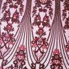 Broderie burgundy accesorizata cu micropaiete