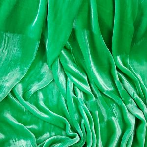 Catifea verde din matase naturala-0