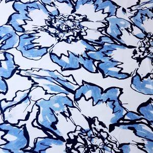 Tafta alb albastru negru din bumbac