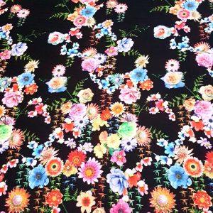 Vascoza imprimata cu flori multicolore