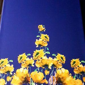 Tafta albastra imprimata digital