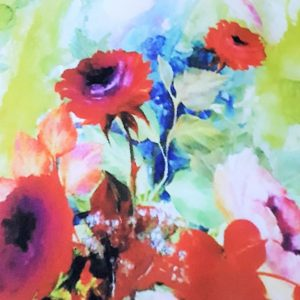 Tafta multicolora imprimata digital-9750