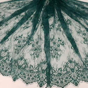 Dantela tip Chantilly verde-19154