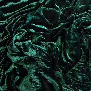 Catifea verde padure matase naturala 100%