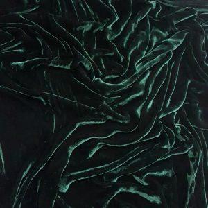 Catifea verde padure din matase naturala-17926