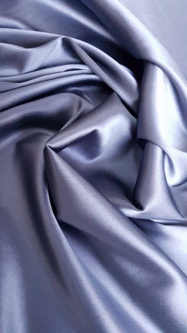 Matase naturala uni argintiu graphite