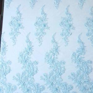 Broderie accesorizata - bleu-aqua-17006