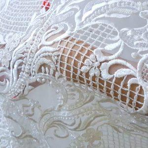 Broderie accesorizata cu cristale - ivory-17217