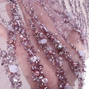 Broderie couture lila prafuit lucrata 100 % manual