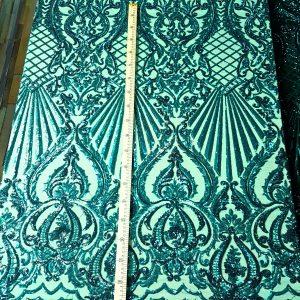 Broderie accesorizata cu micropaiete - verde smarald-20209