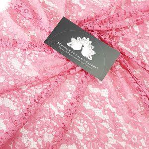 Dantela frantuzeasca roz prafuit Jean Bracq